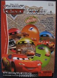 Lightning McQueen easter eggs you make with this egg decorating kit