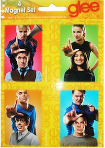The Glee cast on magnets