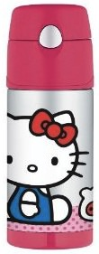 Keep your drink cold up to 12 hours with this Hello Kitty FUNtainer bottle from Thermos