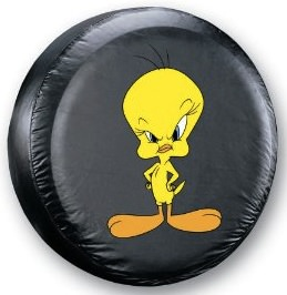 Tweety Bird tire cover