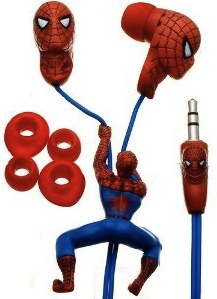 Listen to your music on your Spider-Man Headphones.