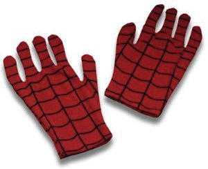Spider-Man keeps your hands warm with these Spiderman gloves.