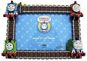 Thomas the tank engine photo frame with rails and trains