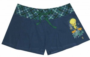 Looney Tunes - Tweety Chicks Rock Blue Shorts for women