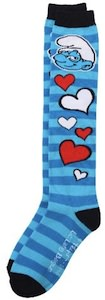 Get some nice Smurf socks with Brainy Smurf and hearts on it