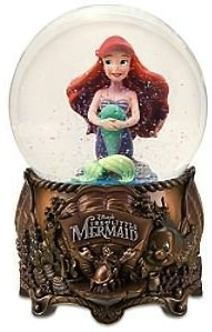 Ariel the little mermaid princess now as snow globe