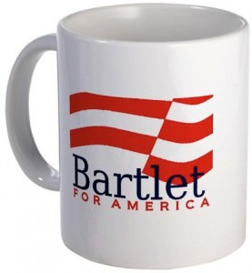 Bartlet for America Mug from the TV Series The West Wing.