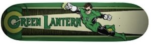 Justice league member Green Lantern on this awesome Skateboard.