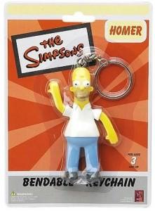Homer Bendable Key Chain