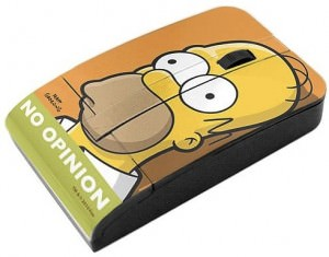 Homer Simpsons No Opinion USB computer mouse