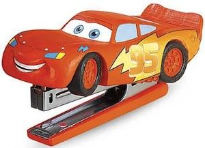 Cars fans will love this Lightning McQueen Stapler.