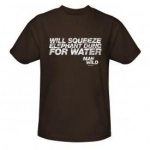 Man vs. Wild Elephant Dung T-Shirt - Brown