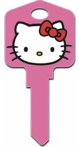 Pink Hello Kitty Blank key for Titan and kwikset locks