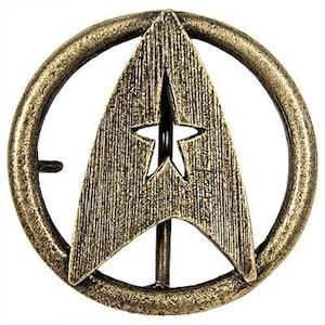Great Quality Belt Buckle of the Star Trek Federation emblem.