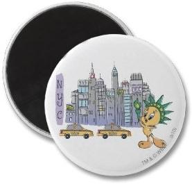 Tweety NY Fridge Magnet she love New York City