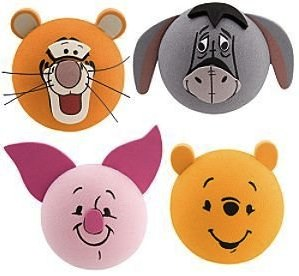 Winnie the Pooh, tigger, piglet and Eeyore antenna topper set