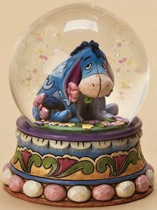 Jim Shore made this Eeyore Gloom To Bloom Snow Globe.
