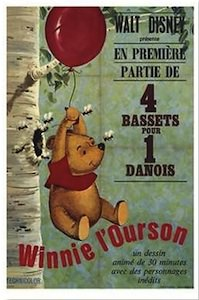 Vintage Winnie the Pooh poster in french to make it even more special.
