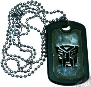 Transformers Autobot Chrome Dog Tag on Chain