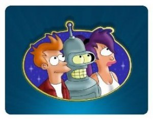Futurama Mouse Pad with Leela, Fry and Bender