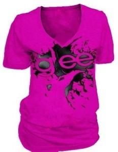 Glee Finger Splat Purple T-Shirt