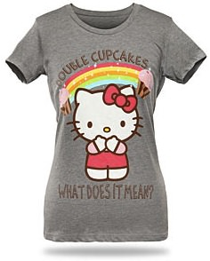Hello Kitty double cupcakes t-shirt