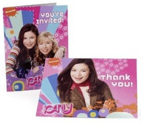 iCarly wants to invite you to the party with these invitation and thank you cards