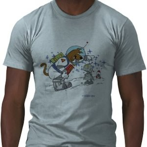 Scooby-Doo astronaut with Robot t-shirt