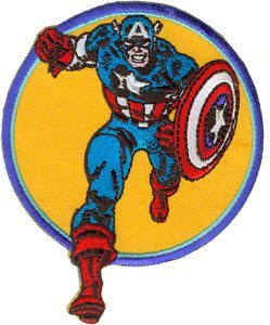 See Captain America running on this marvel patch