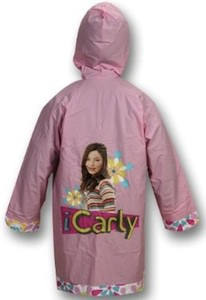 Enjoy the rain with this iCarly Rain Slicker in pink