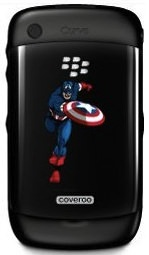 Captain America Cover for blackberry Curve 8520 and 8530