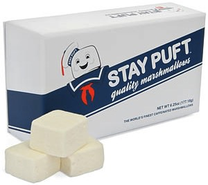 Stay Puft Marshmallows in a special Ghostbusters box
