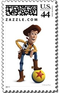 Woody From Toy Story on this Mail stamp