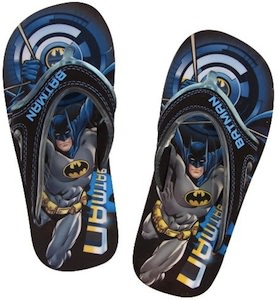 Batman the Dark knight flip flops for kids