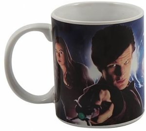 Amy Pond and Doctor Who on one cool ceramic mug
