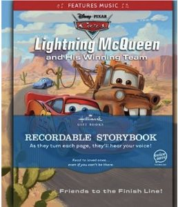 Hallmark Recordable book with lightning mcqueen and mater