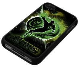 Green Lantern in front of the green planet iPhone case