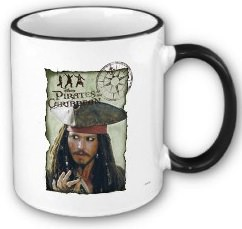 Jack Sparrow Adventure mug for a real world pirate or Johnny Depp fan