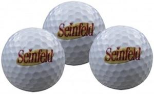 Set of 3 Seinfeld golfballs