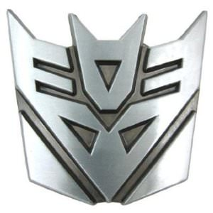 Decepticon Belt Buckle for Transformers fans