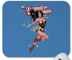 Wonder Woman blue mousepad