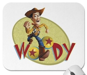 Cowboy Woody now printed on this mousepad for the real toy story fans