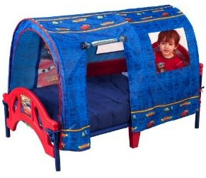A cars tent bed for toddlers