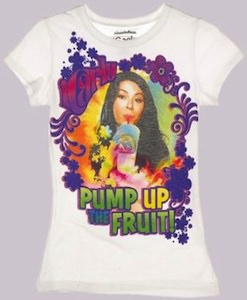 iCarly T-Shirt that says Pump up the fruit