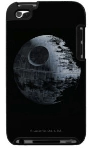 Star Wars case for the iPod touch that shows the death star