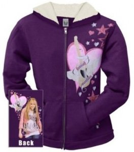 Hannah Montana - Guitar Heart Girls Youth Zip Hoodie