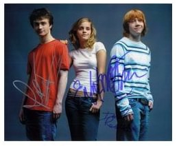 Harry Potter and friends autographed photo