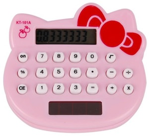 Hello Kitty Solar Calculator great for back to school