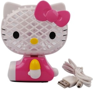 Hello Kitty Desk fan usb or battery powered