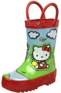 Cute Hello Kitty Rain boots with a scenic print